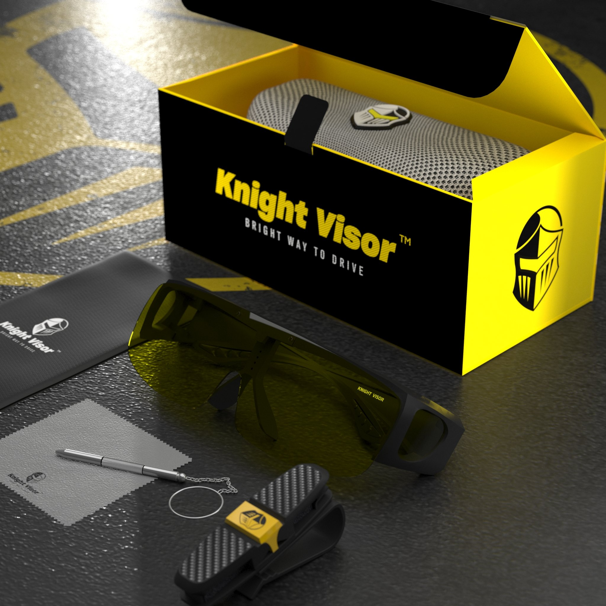 Day and Night Driving Glasses - Package